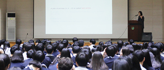 Lecture at Hamhyun High School by Prof. Hee Oh
