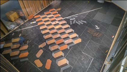 Installation of 'Untitled (Stone floor)' (2004)