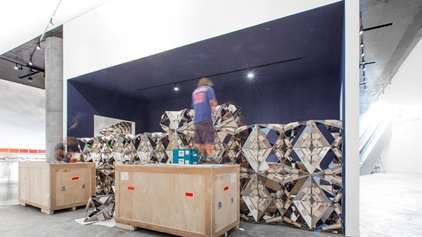 Timelapse Video_Installation: Less ego wall (2015)_Installation