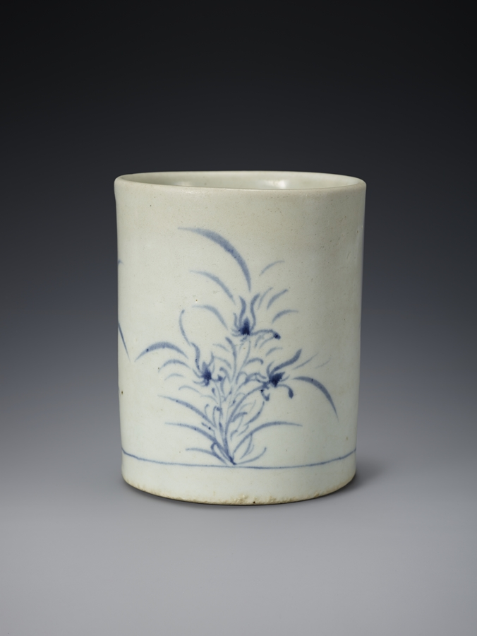 Blue and White Porcelain Bursh Holder
