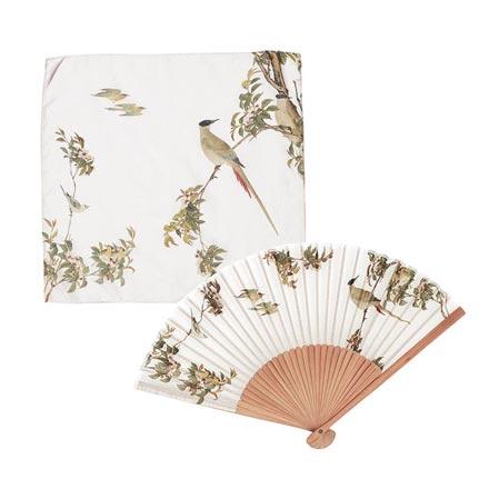 Bird-and-Flower Handkerchief &