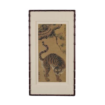A Tiger under Pine Tree
