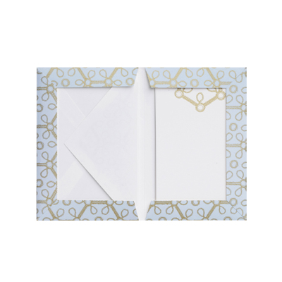 Set of Writing Cards Bearing Design from Silla Gold Earrings